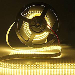 Ninth-City 5 Meters 1200 LEDs Double Row SMD 3528 Non-waterproof LED Strip Light Warm White