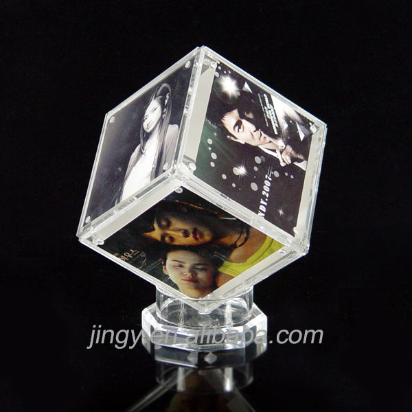 magic cube design with magnetic force acrylic photo frame