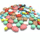 Milk Pastel Neon Candy Color Resin Beads Sew On Garment Accessories Stone Cather