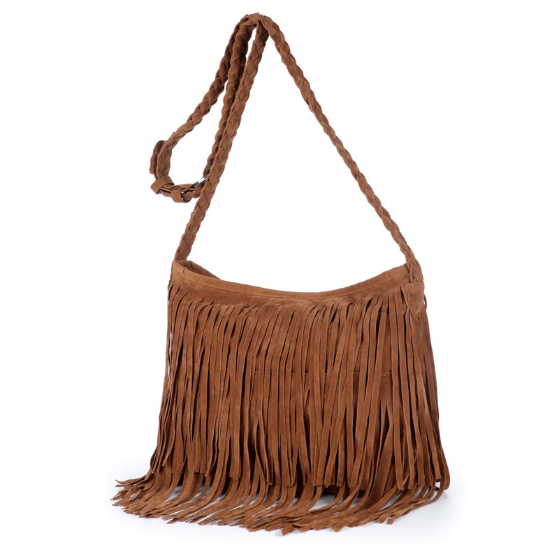 Most Popular Europe Style Cossbady Bags with Fashion Tassels Woven Long straps Women Hanbags Lady's Bags Purses Shoulder Bag