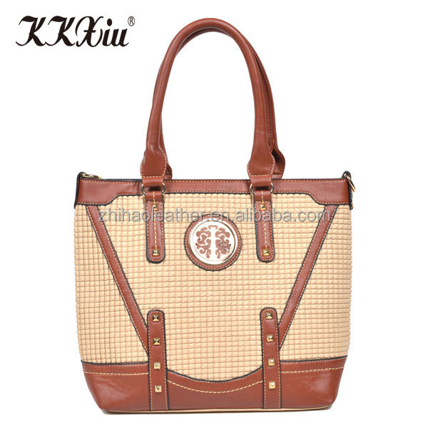 China factory export brand new designer fashion synthetic female tote bags