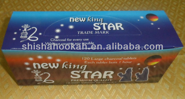 Premium Quanlity 120 tablets New king star shisha hookah charcoal