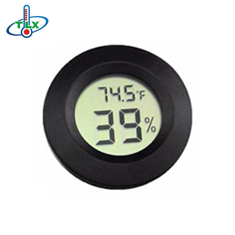 Cigar Humidor Hygrometer TemperatureThermometer Digital Meter Round Face