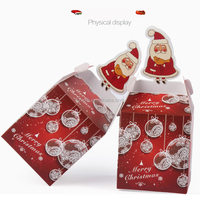 3D Christmas Gift Boxes,Party Favor Goody Bags,Paper Goody Bags Boxes