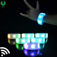 Programmable Remote Control Glowing LED Wristband Control DMX512