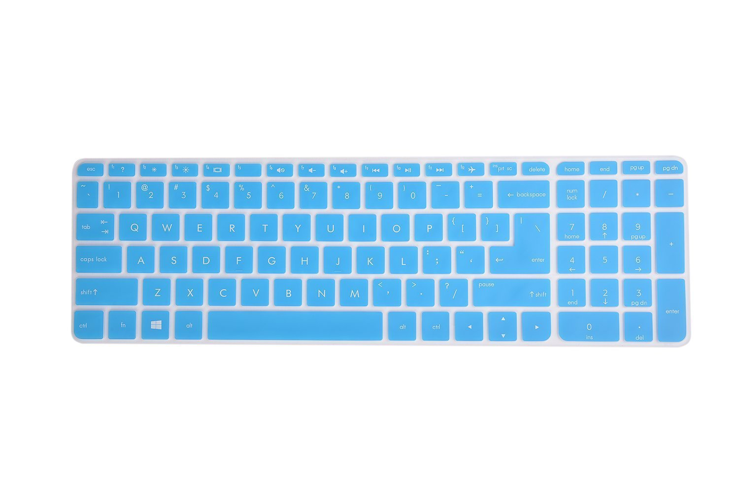 Leze Blue Ultra Thin Silicone Laptop Keyboard Cover Skin Protector for Lenovo Yoga 910-13.9 //14 Touch 2-in-1 Laptop Semi