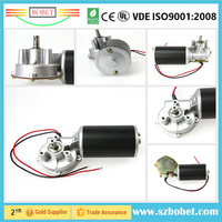 12v 24V 120W 8.0Nm dc motor worm gear with self locking switch for electric golf cart wire paper feed motor
