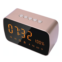 2018 Newly Clock Radio with Bluetooth Speaker, Digital Alarm Clock for Bedroom with Dimmable LED Display