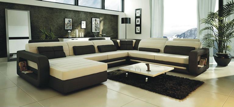угловой диван Leaher италии S8592 диваны для гостиной Id товара
