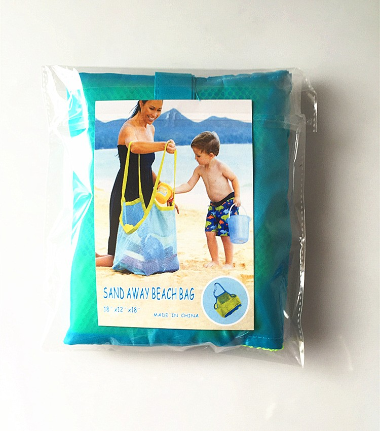 Sand away toy storage bag beach toy set bag