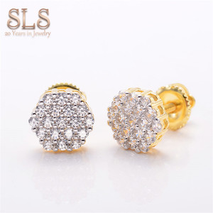 Gold 14k 18k 22k Women Accessories Statement Stud Earrings Guangzhou Rings For Ears