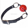 Mouth Ball Gag Harness Restraints Adult Sexy Toy Red Faux Leather Black