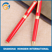 Red Color with Golden Clip Carbon Pen and Ball Pen Set