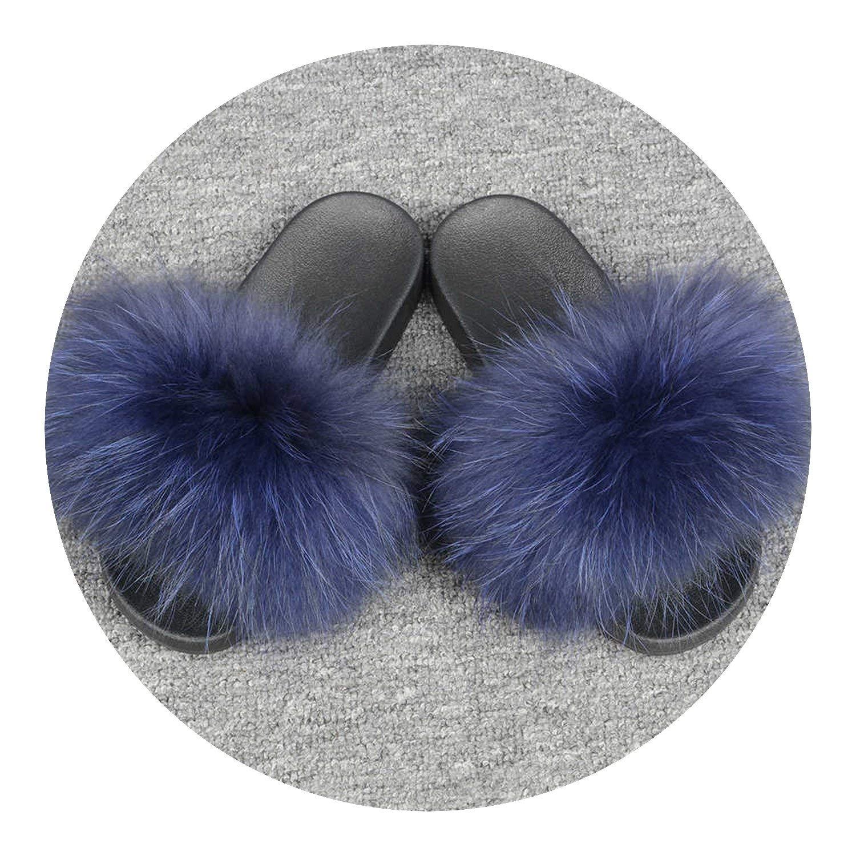 0e8b0574eb80 Get Quotations · Kingwhisht Fur Slipper Fur Style Slides Sliders Soft Fur