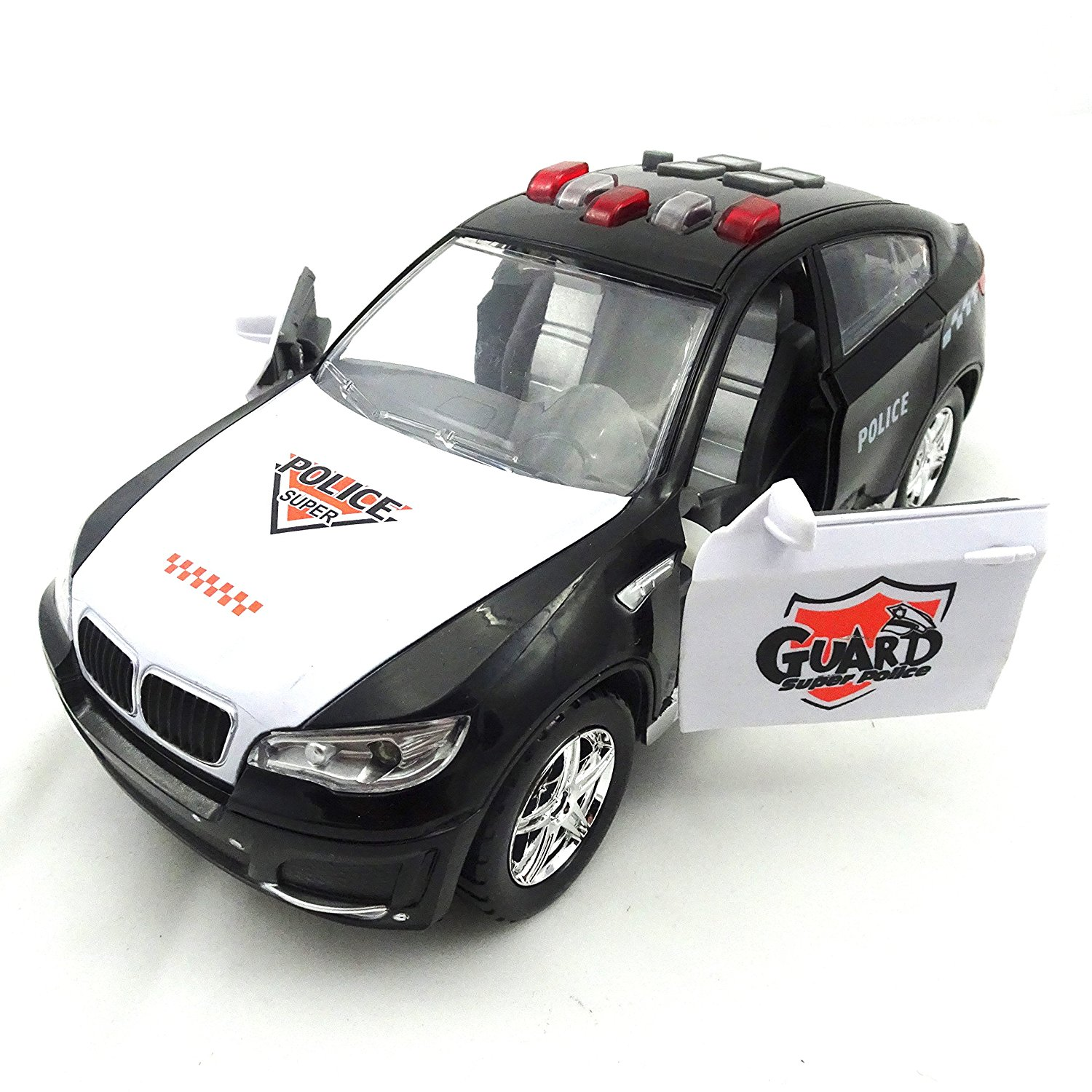 Battery Operated Police Car With Bright Lights And Multi Functional Sounds Bump N Go Technology