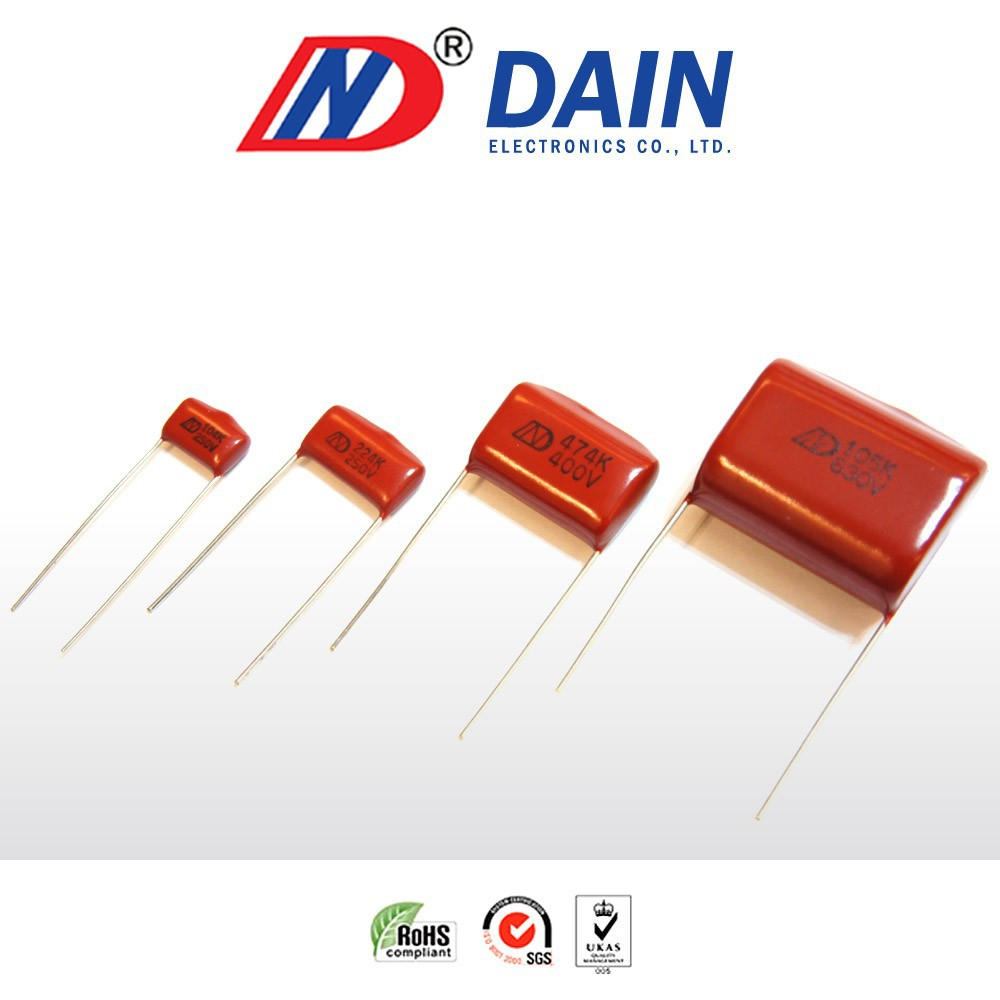 Metallized polyester film 3 0.1uf 250v capacitor cl21x polyester film capacitor