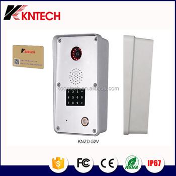 KNTECH New IP door intercom smart phone/ video door phone camera KNZD-52V