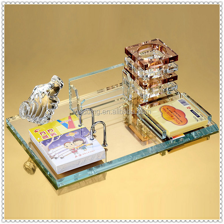 Luxurious Crystal Desk Calendar Sets For Cooperation Gifts