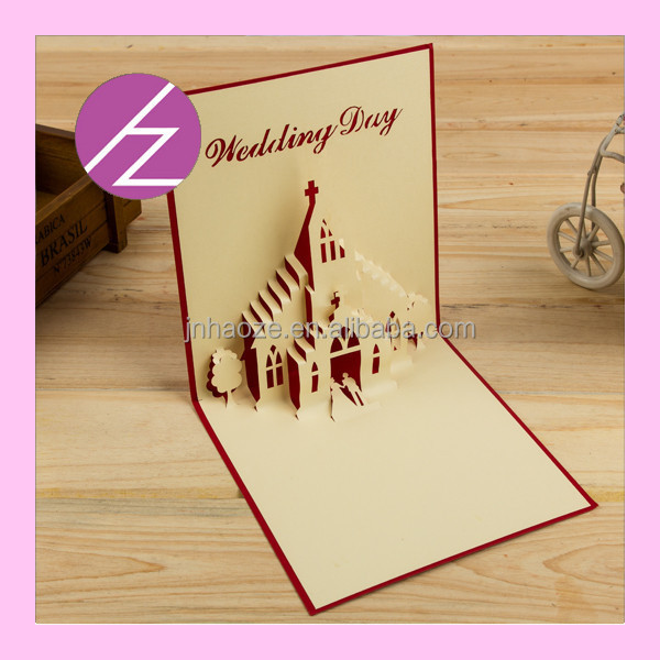 Creative Design 3d Pop Up Wedding Invitation Party Card Greeting ...