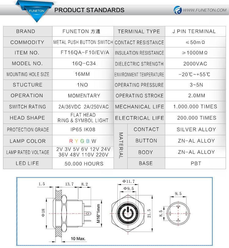 Symbol Light 4 Pin Push on Switch,Push on Illuminated Switch,16mm  on symbol for headlight, symbol for fuel tank, symbol for faucet, symbol for distributor, symbol for screw, symbol for remote control, symbol for condenser, symbol for button, symbol for cable, symbol for brake, symbol for light resistor, symbol for frame, symbol for grill, symbol for tachometer, symbol for hammer, symbol for fluorescent light, symbol for muffler, symbol for electric outlet, symbol for pilot light, symbol for wall light,