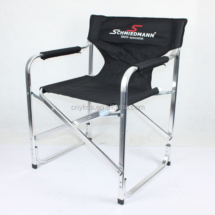 High quality aluminum mini folding director chair with logo printing