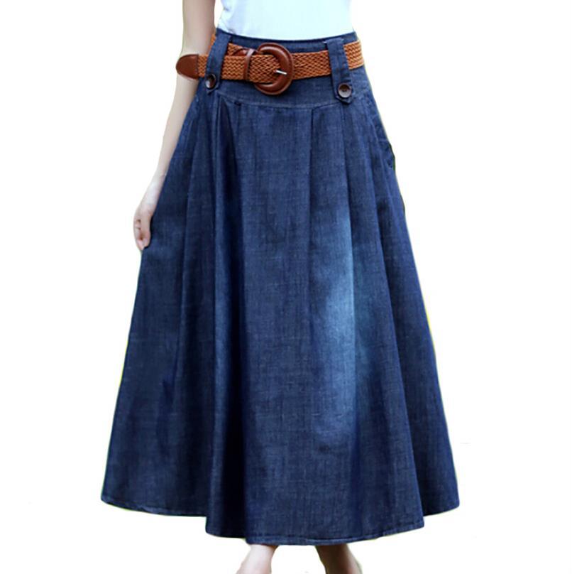 3cfb78511b Cheap Long Jean Skirts - Redskirtz