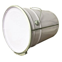 white color 20l 5 gallon round metal tin paint pail with lock ring lid