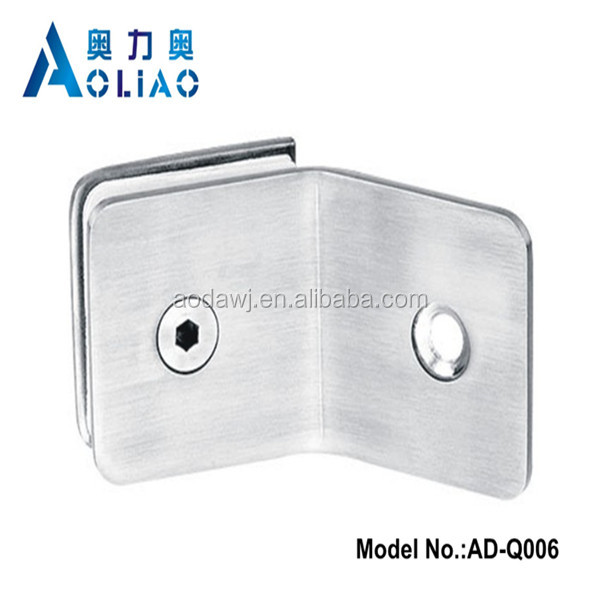 Stainless steel china cabinet glass clips and SS handrail clamps and handrail glass fixing