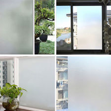 Privacy Window Film No Adhesive Glass Stickers Frosted Static Cling Decorative Stained Glass Window Film