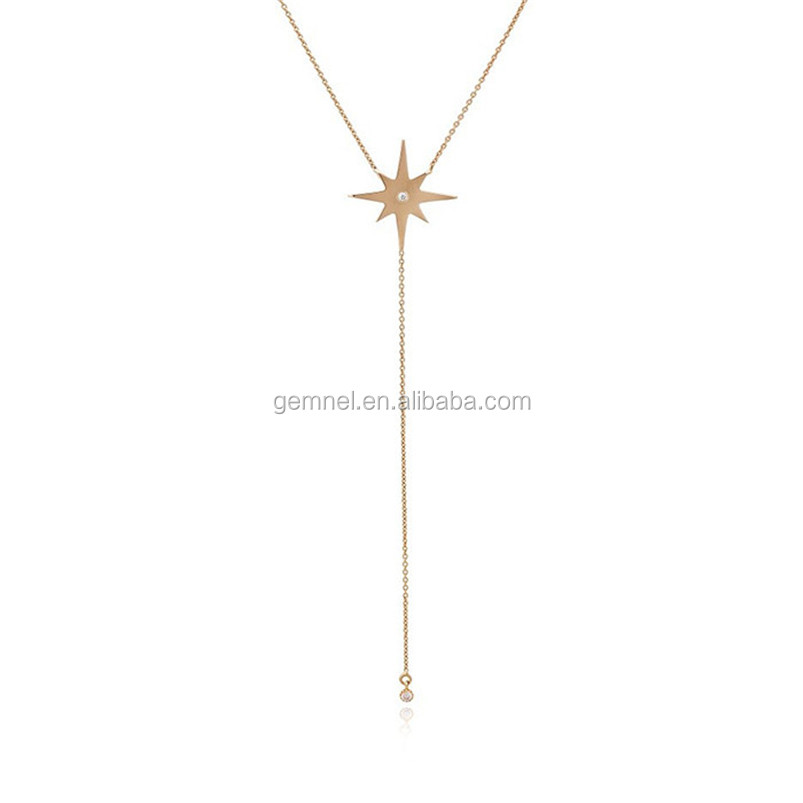 Star tail lariat necklace gemnel costume jewelry