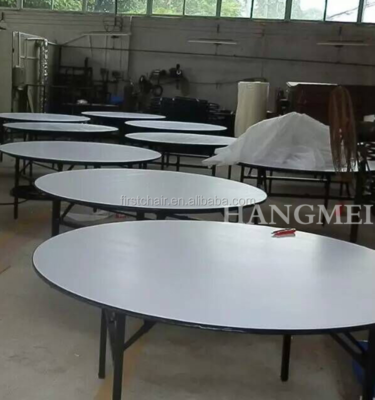 6FT round rotating dining table