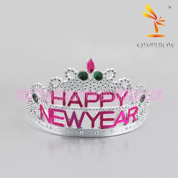 Happy New Year Plastic Tiara Crown Hair Hoop Party ...