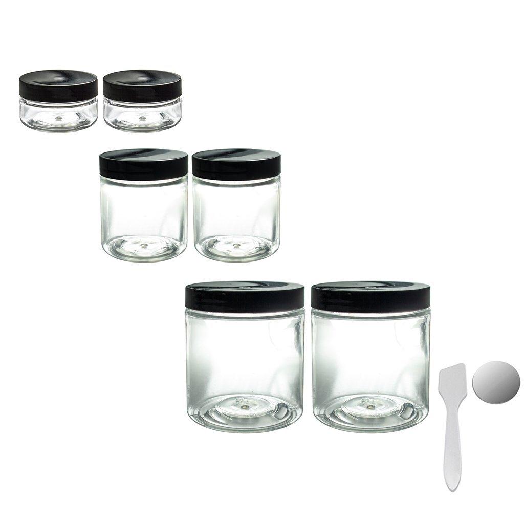 Buy Clear PET Plastic (BPA Free) Refillable Travel Jars Set