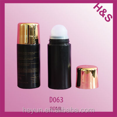 80ml plastic roll bottle deodorant empty perfume roll on bottle plastic deodorant stick bottle