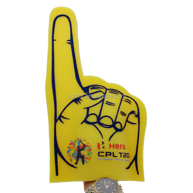 cheering foam hands