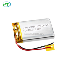 Fabricant de batterie KC Approuvent 103450 3.7 v 1800 mah Batterie Au Lithium <span class=keywords><strong>Nickel</strong></span> <span class=keywords><strong>Fer</strong></span> <span class=keywords><strong>Batteries</strong></span> À Vendre