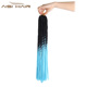 Synthetic Long Crochet Hair Braids Extension Heat Resistant Ombre Sky Blue Colors Top Quality Dreaklocks Braid Hair