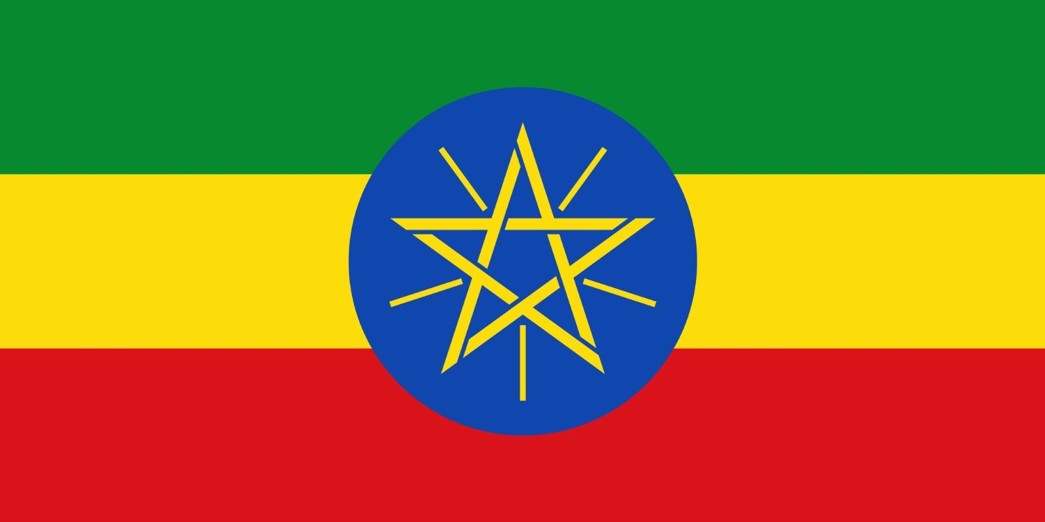 SoCal Flags® Brand Ethiopia Flag 3x5 Foot Polyester Ethiopian National Flag - High Quality Weather Resistant Durable - 100d Material Not See Thru Like Other Brands