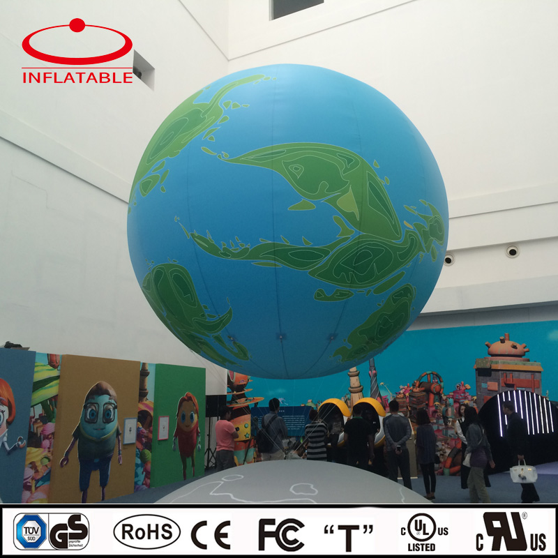 large inflatable earth shape helium event decoration balloon