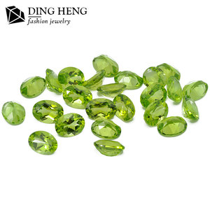 Wholesale Price Top quality 6*8 Loose Gemstone Oval Cut Green Natural Peridot