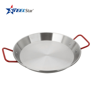 Factory outlet household flat bottom multifunction electric stainless steel skillet
