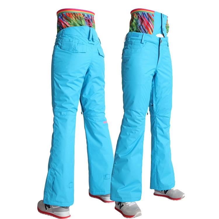 76dbf45bc1bfd Wholesale-Women High Waist Ski Pants Snowboard Pants GSOU SNOW Single And  Double Plate Thermal Female Waterproof Windproof Pants Twill Pants Monkey  Pants ...