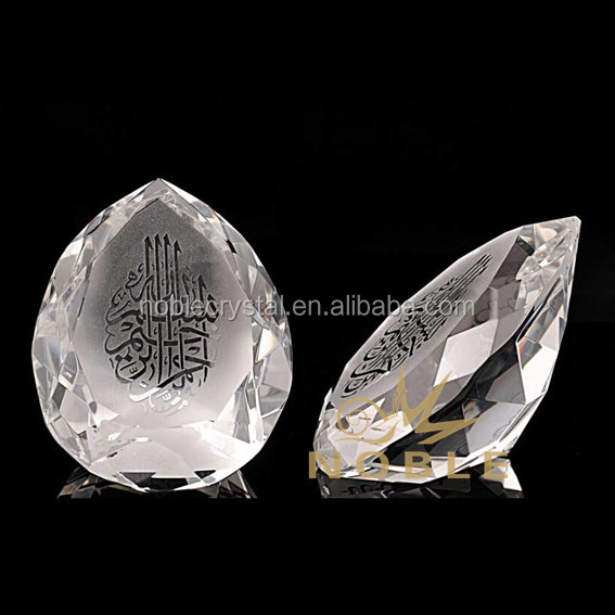 Gegraveerde Allah Crystal Teardrop Diamant Award als Evenement Souvenir