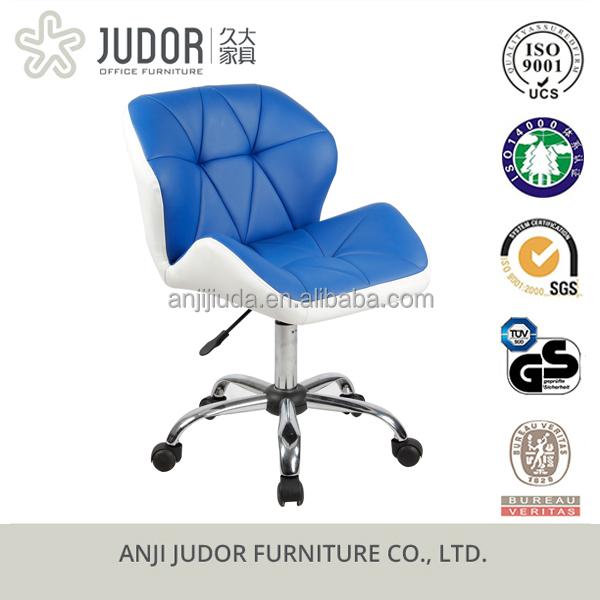 judor pu leder barhocker stuhl blau mit rollen gas. Black Bedroom Furniture Sets. Home Design Ideas