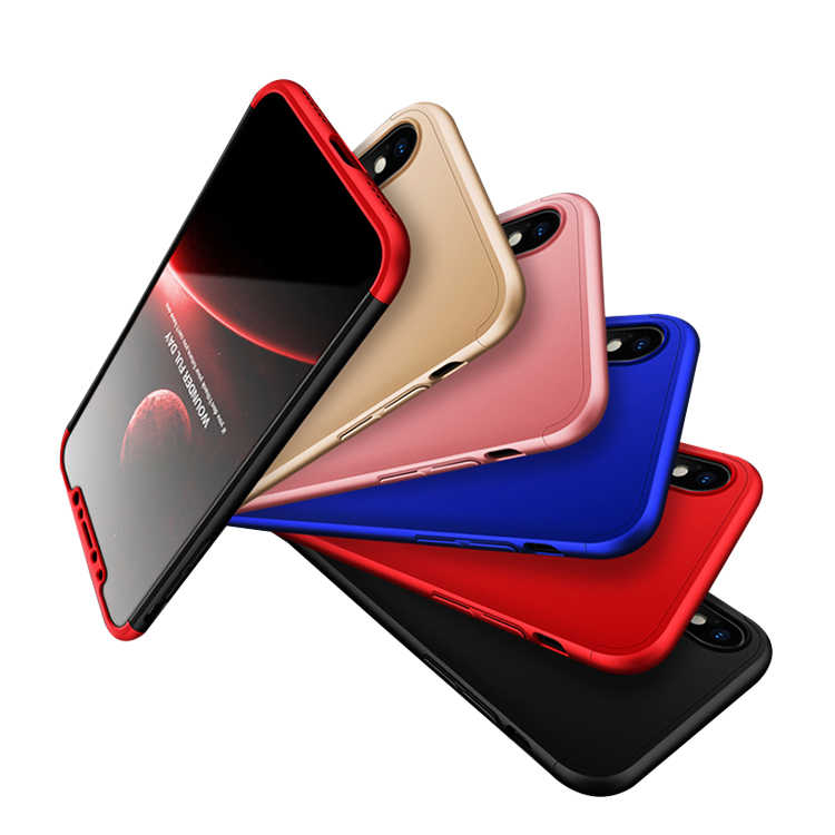 High Quality 360 Full Cover Luxury PC Phone Case for iphone x фото