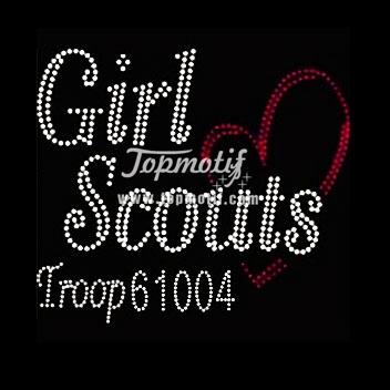 Keep Calm Girl Scout Scouts Cookies Hotfix Iron On Rhinestone Shirt Transfer