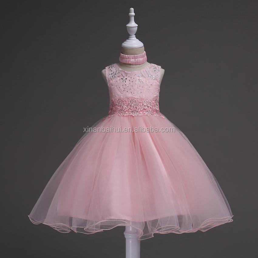 Estilo Europeo chica princesa vestido de encaje niños Rosa dama 2 ...
