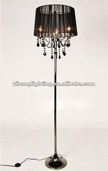 crystal chandelier floor lamp fancy floor lamp contemporary floor lamp. Black Bedroom Furniture Sets. Home Design Ideas