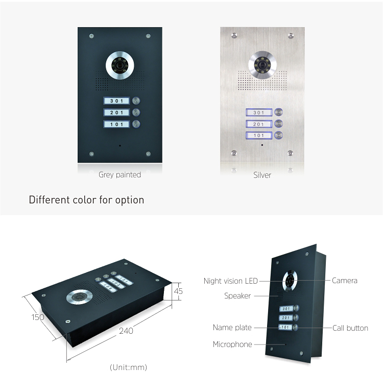 Intercom Connected Audio Release Telephone Set Intercomunicador Interfon Video Oem Phone Home Security Door Monitor System