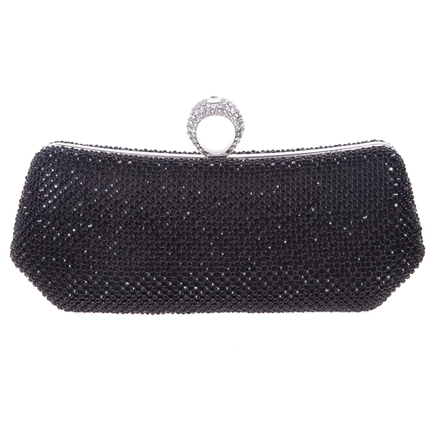 b3ab4883d4 Fawziya Bling Ring Clutch Purse Women Rhinestone Clutch Evening Bag